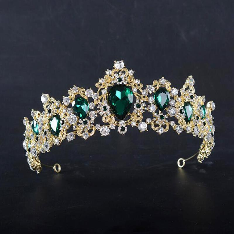 Balain Braut Tiara Krone Blumenstrass-Ornament Brautschmuck Brautschmuck