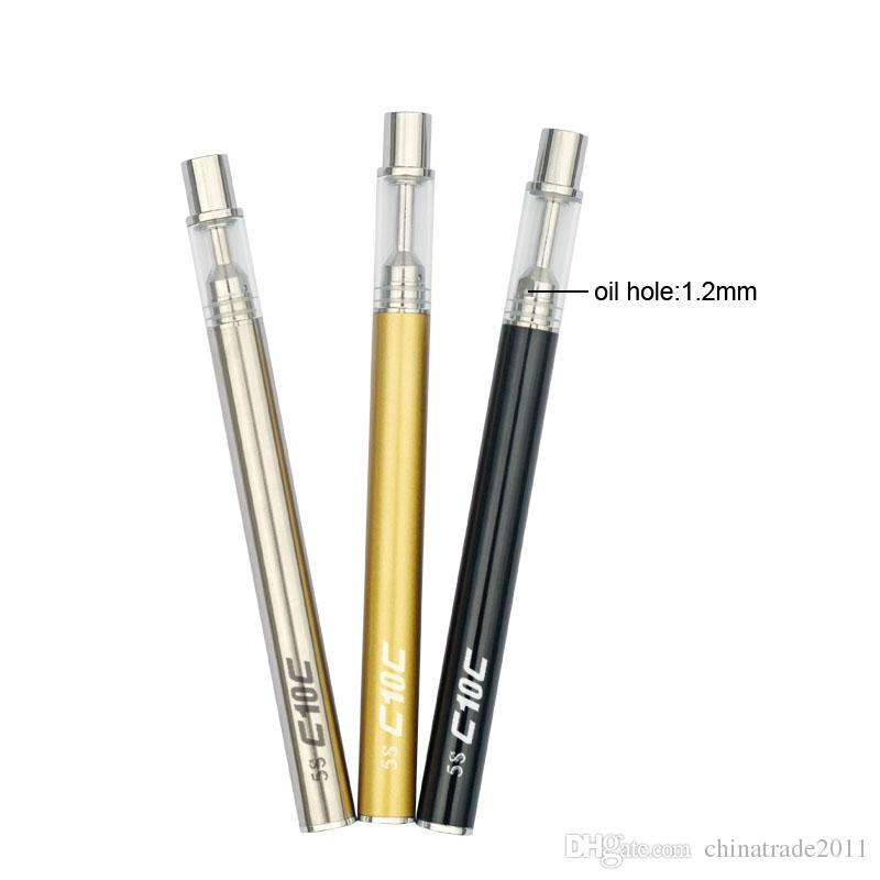 Orijinal Tek Kullanımlık Vape Kalem 5 S C10 Vape Kartuşları 280 mAh 510 Konu Pil Seramik Bobin USB Şarj ile Kalın Yağ Buharlaştırıcı Başlangıç Kiti