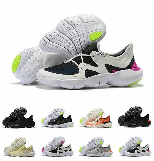 photos officielles b992c 23804 Free RN 5 Noir Volt Blanc GS Designer Chaussures De Course 5s Free Run  Homme Sports Chaussures Homme Sneaker Athlétique Chaussure formateurs