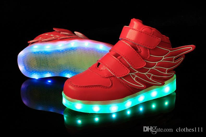 ea6a8b79e2 NEW style children's LED light shoes kids Nightclub dance boys and girls  sneaker fashion USB shoes casual shoes 5 colors 2200.