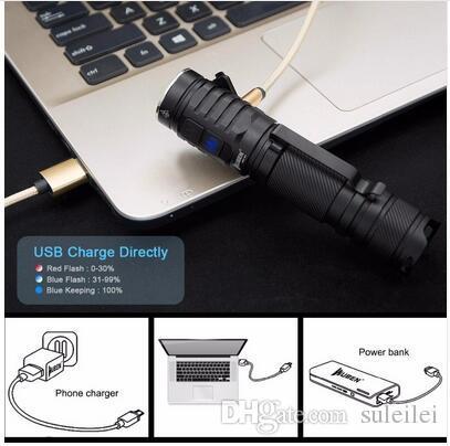 Leistungsstarke LED-Taschenlampe 3 * CREE XP-G3 LED-Lampen 1300 Lumen USB-wiederaufladbare IPX8-Kamera wasserdicht mit 18650 Li-Battery