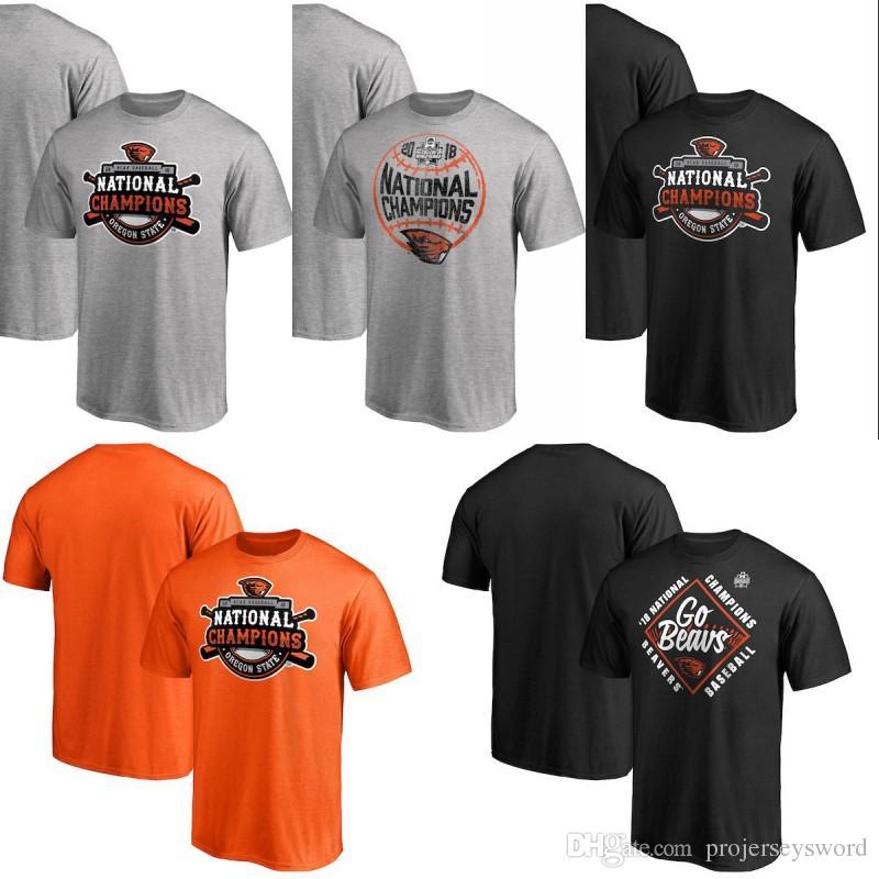 55843ba5 2019 Mens 2018 NCAA Baseball College Jersey World Series National Champions Grand  Slam T Shirt Orange Grey Black From Projerseysword, $16.26 | DHgate.Com