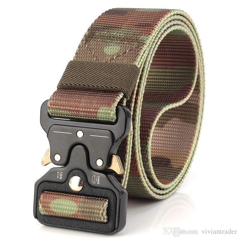 offizieller Verkauf Beamten wählen Modestile 3,8 cm Taktischer Gürtel, Herren Armee Fans Taktischer Gürtel,  Multifunktionale Nylon Outdoor Trainingsgürtel
