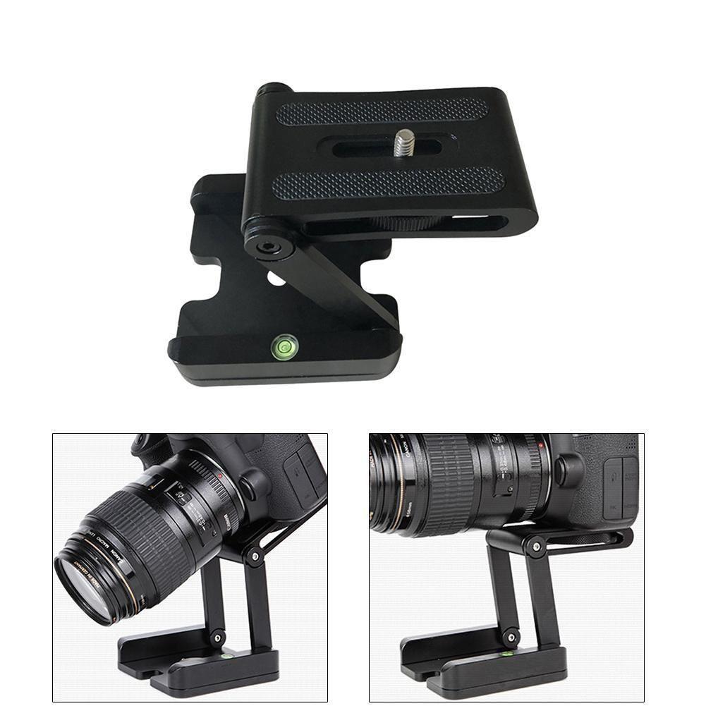 Camera Z Flex Pan Tripod Folding Tilt Head Plate Stand Holder Studio Bracket