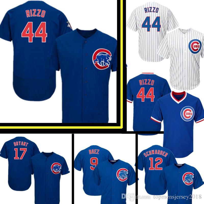 702069718 Compre Chicago Cub 44 Anthony Rizzo 17 Kris Bryant Jersey Hombre Cubs 12  Kyle Schwarber 9 Javier Baez 22 Jason Heyward Camisetas De Béisbol A  23.52  Del ...