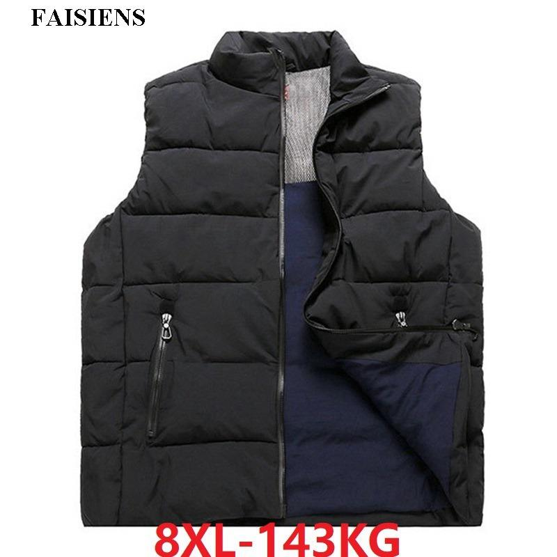 412a4c02289 FAISIENS Men Vests Coat Warm Thick Plus Large Size 6XL 7XL 8XL ...