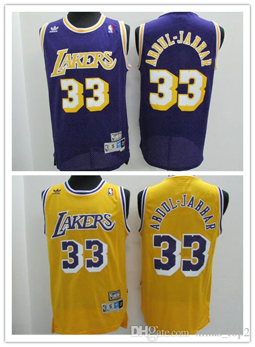 f4123f22c Mens 33 Kareem Abdul Jabbar Los Angeles Jersey Lakers Basketball Jerseys  Stitched Authentic Classic Kareem Abdul Jabbar Basketball Jersey Canada  2019 From ...