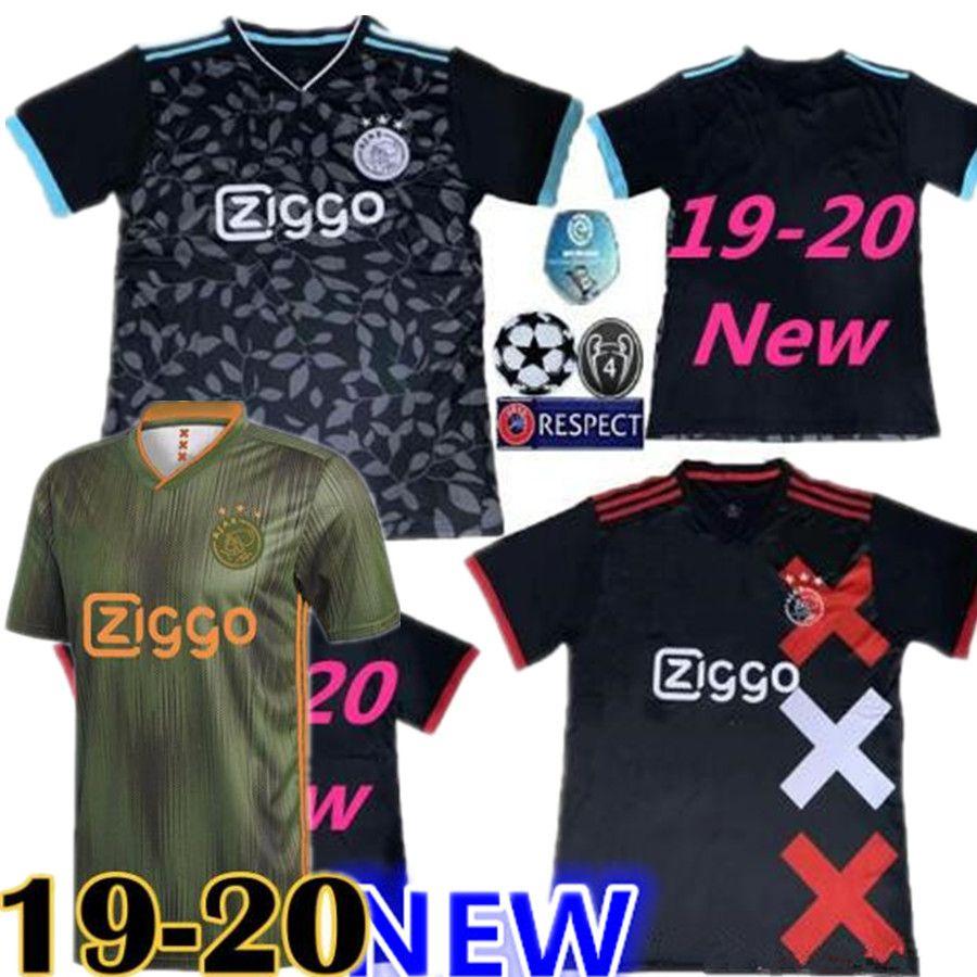 b06a26dfb0a 2019 2019 2020 Ajax DE JONG TADIC 18 19 20 Home Red Soccer Jerseys NERES  ZIYECH Third Away Black Football Shirts Ajax Camisas De Futebol DE LIGT  From ...