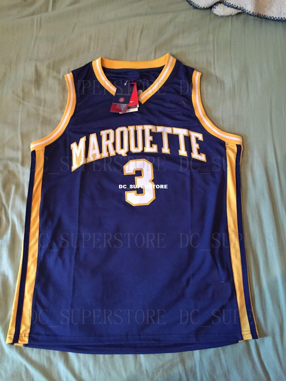 2019 Cheap Custom Vintage Dwayne Wade Marquette Golden Eagles NCAA  Basketball Jersey Stitch Customize Any Number Name MEN WOMEN YOUTH XS 5XL  From ... a06557cde6