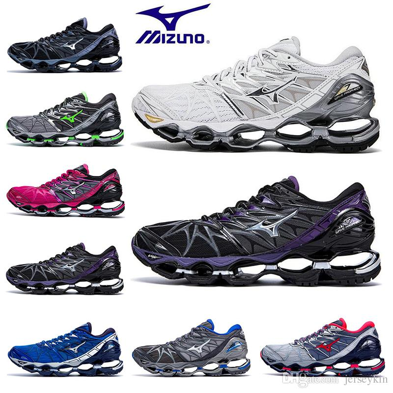 best website 3add1 e0bd0 Hot Mizuno Wave Prophecy 7 Mens Designer Running Shoes Original Outdoor  Cushioning Mens Trainers Sports Sneakers