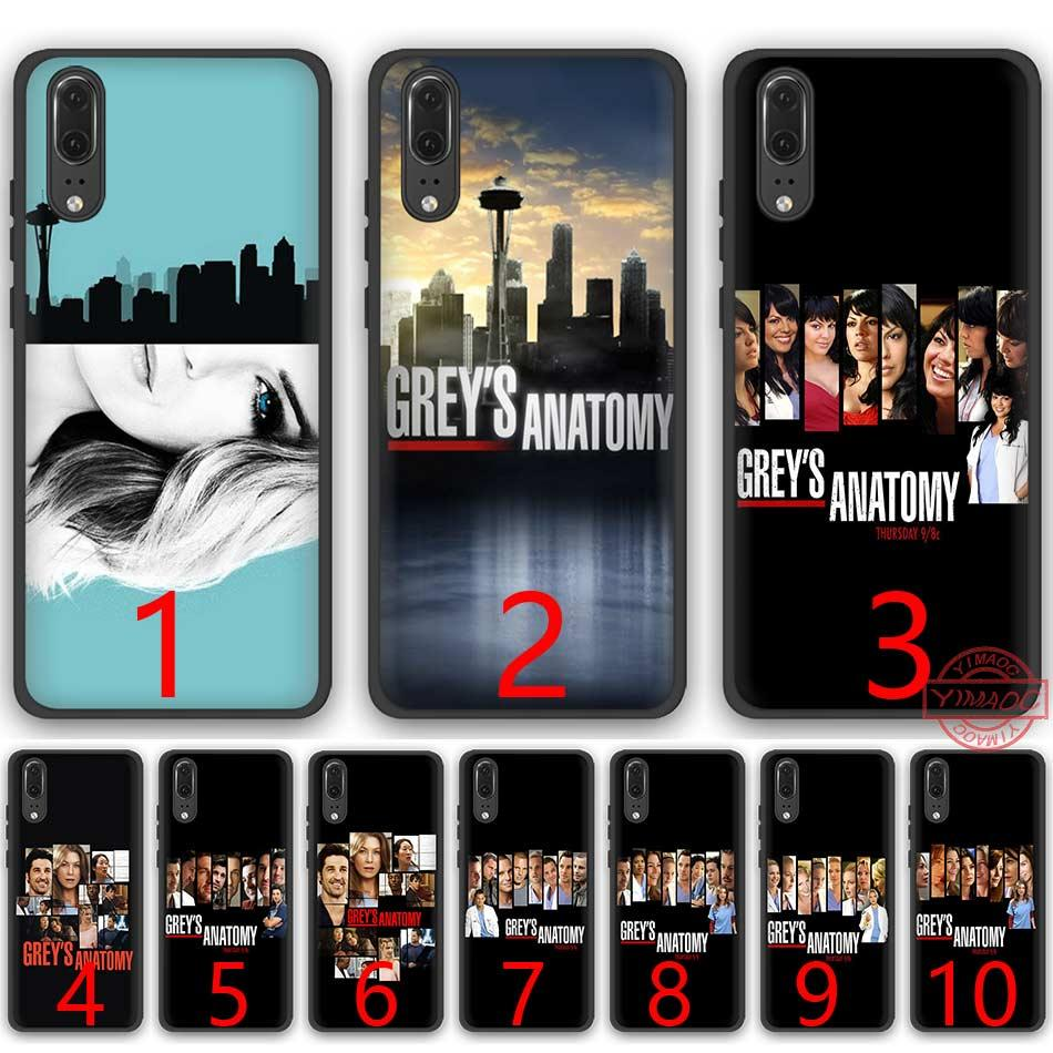 hot sale online bb128 6cd30 Grey s Anatomy Season poster Soft Silicone Black TPU Phone Case for Huawei  P8 P9 P10 P20 Lite Pro P Smart Cover