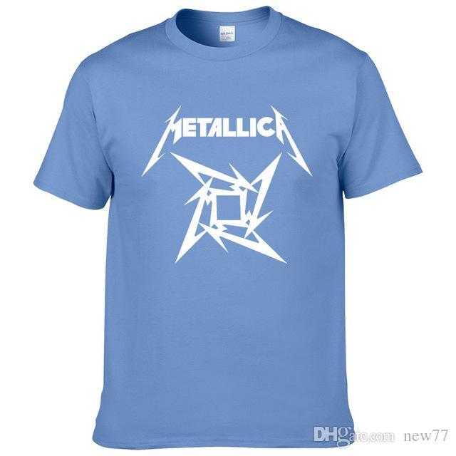 bc34f5997 2019 Womens Luxury Designer T Shirts Summer Fashion Heavy Metal Rock  Metallica T Shirt Short Sleeve Rock Classic Cotton T Shirt Eur Size Awesome  Shirt ...