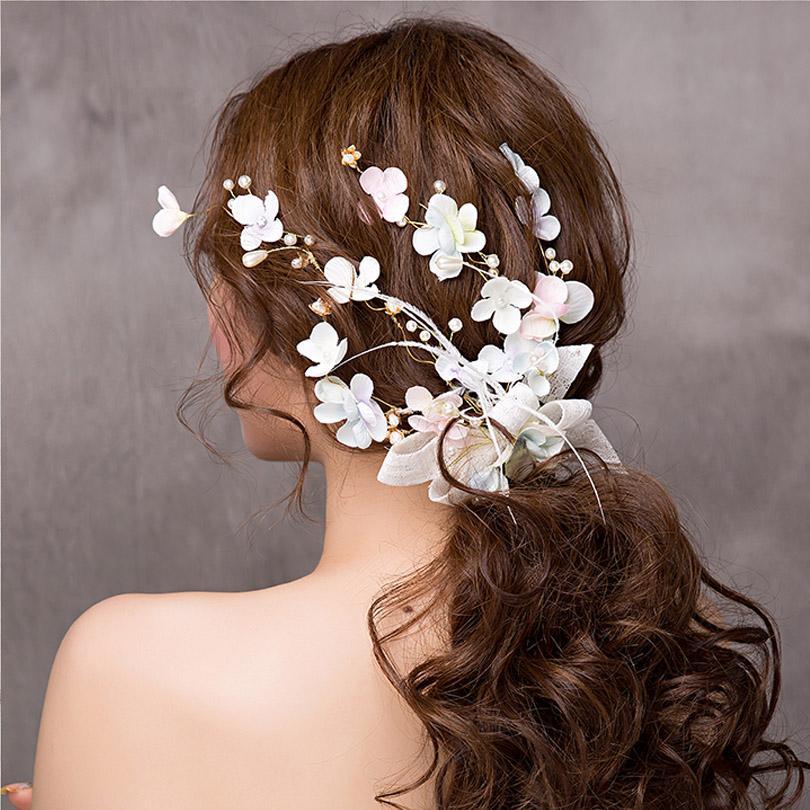Grosshandel Feder Mode Koreanische Frauen Haar Reben Braut Hochzeit
