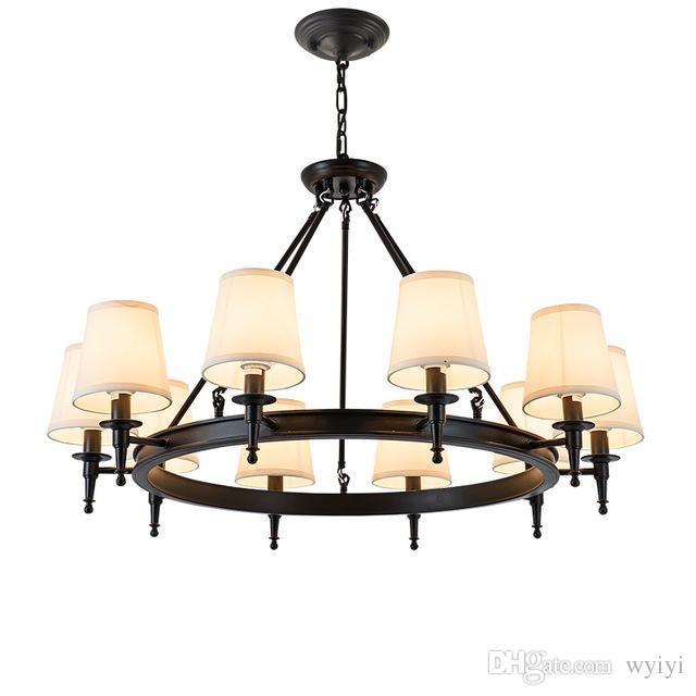 Acheter Lustres Modernes Salon Chambre Foyer Luminaires Tissu Abat