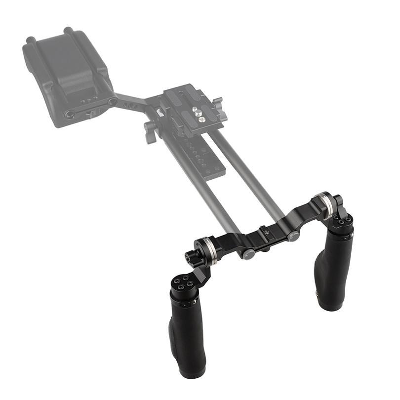 CAMVATE Camera Shoulder Support 15MM Rod Clamp Camera Handle Black Leather Grip For ARRI Rosette DSLR Fotografica Kit C1471 (1)