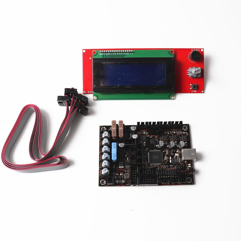 Freeshipping Einsy Rambo 1 1a Mainboard Reprap Prusa i3 MK3 mainBoard With  4 TMC2130 Stepper Drivers SPI Control 4 Mosfet Switched Outputs