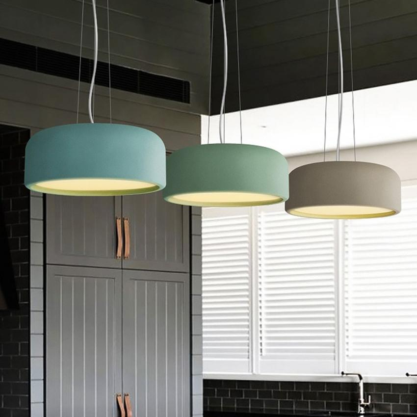Acquista Lampade A Sospensione A Led Nordic Macaron Iron LED E27 ...