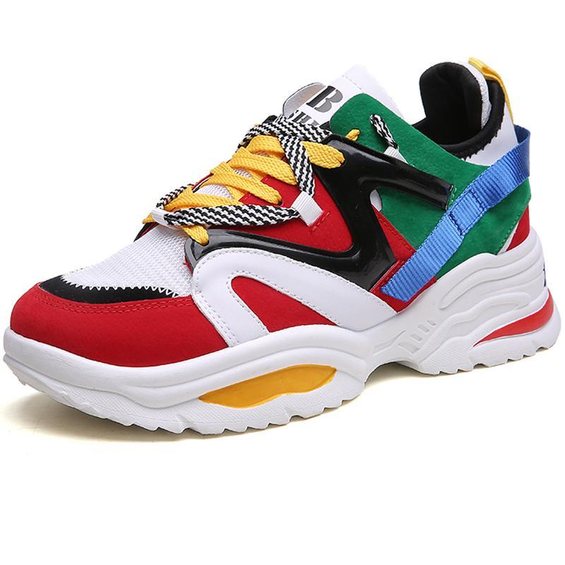 a342494ef8070 Compre Marca Gruesa Suela Mujeres Zapatillas Superstar Zapatillas De Deporte  Zapatos De Mujer Zapatos De Deporte Femenino Al Aire Libre Goma Niñas  Caminando ...