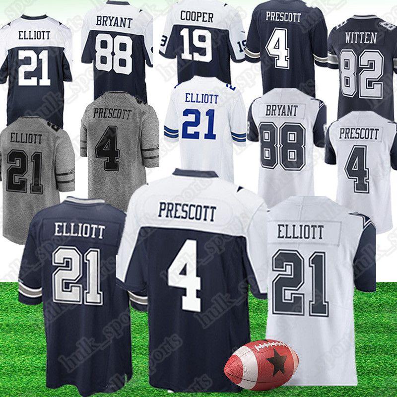 pretty nice d8b11 627f8 Dallas 21 Ezekiel Elliott Cowboys jersey 4 Dak Prescott jerseys 55 Leighton  Vander Esch 19 Amari Cooper american football jerseys
