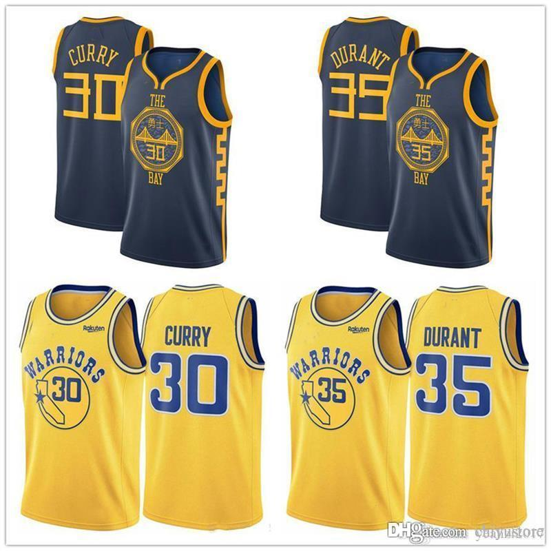 954ff3332ac ... low price 2018 2019 golden state warriors jersey 30 steph stephen curry  35 kevin durant 11