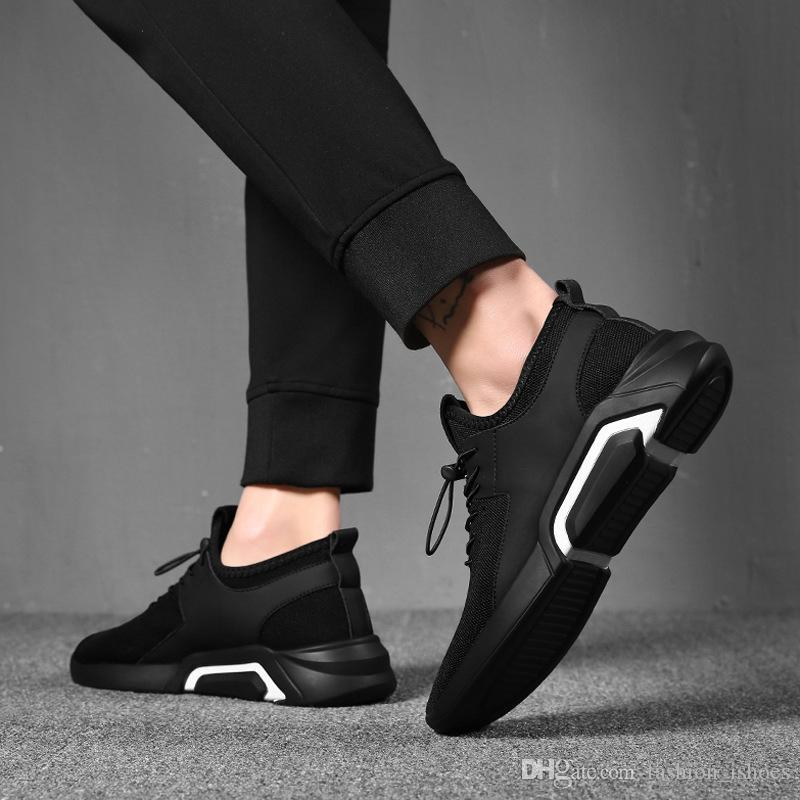 a4bb090cbe Compre Masorini Homens Malha Sapatos Casuais Lace Up Novos 2019 Homens  Tênis Primavera Outono Respirável Moda Calçado Masculino Confortável W 534  # 532649 ...