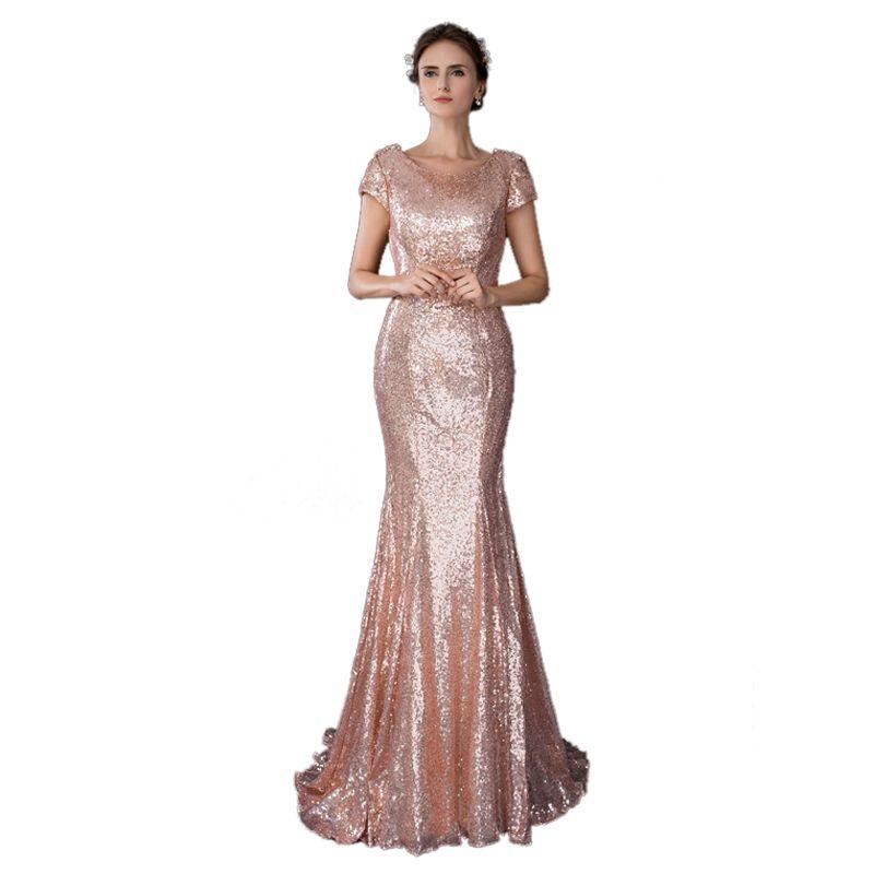 91bfd07cd Compre Lentejuelas 2018 Nuevas Mujeres Elegante Vestido Largo Fiesta De  Graduación Para Celebrar La Fecha Ceremonia Gala Vestidos De Noche UpD01 A   131.16 ...