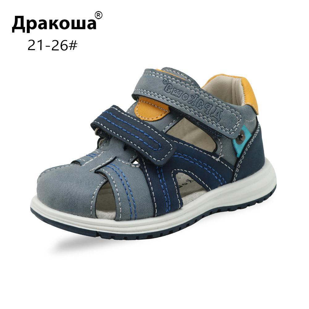 cf109574b Compre Apakowa Meninos Sandálias Da Criança Do Bebê Fechado ...