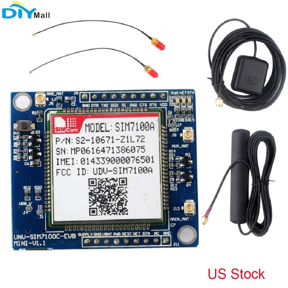 US Network SIM7100A Module 4G Development Board Antenna for Arduino  Raspberry Pi Android Linux Windows United States Stock