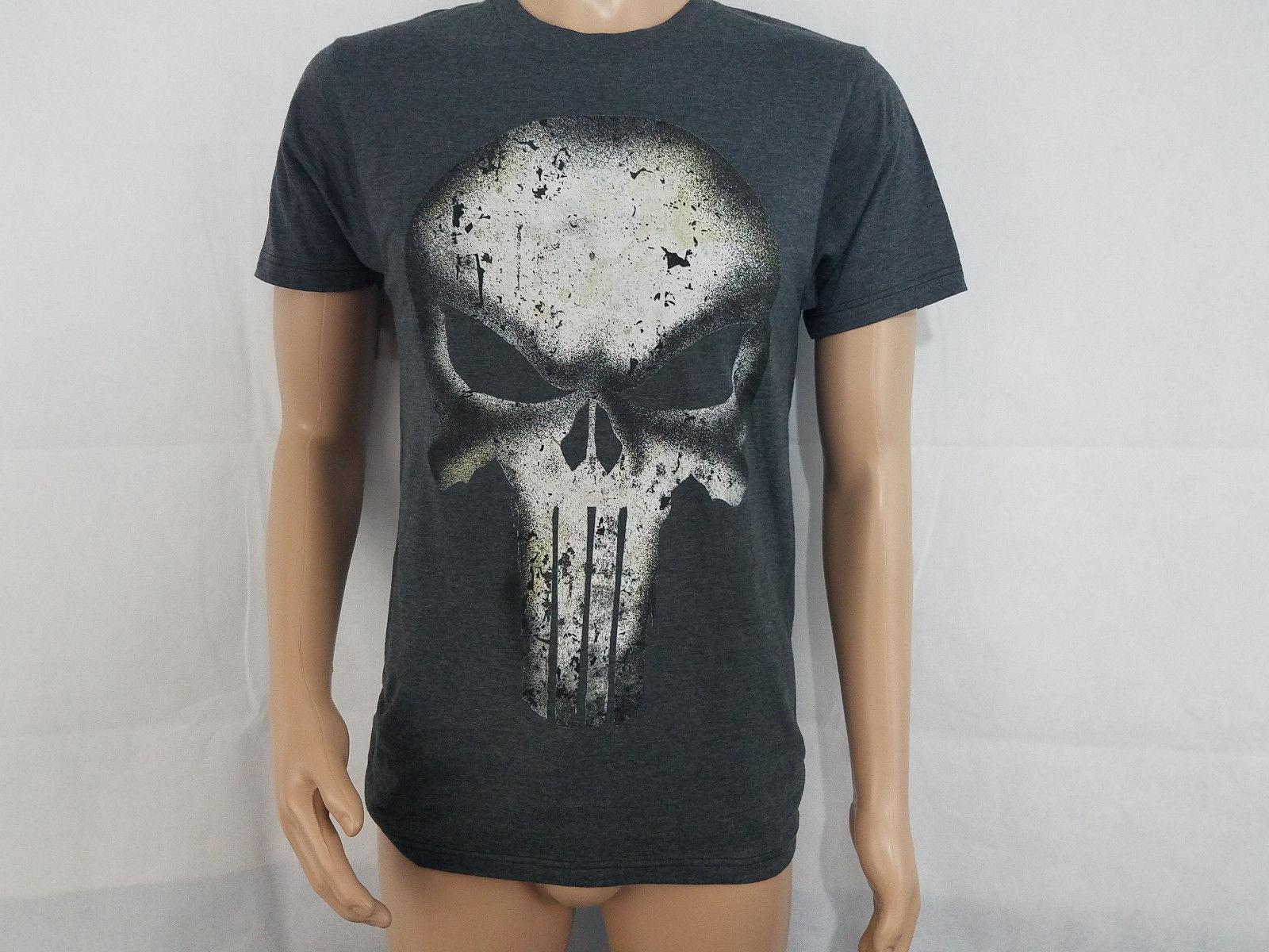 15362762c Marvel Comics Mens The Punisher Graphic T Shirt Tee NWT Small S Gray Super  HeroFunny Unisex Casual Tshirt Top Silly T Shirts Interesting T Shirts From  ...