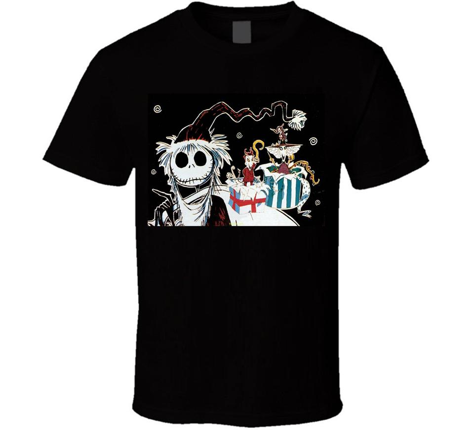 NIGHTMARE BEFORE Christmas JACK IN SANTA HAT T Shirt AGES Black M ...