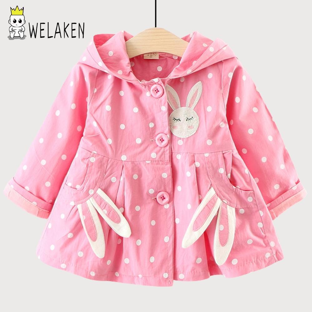 123c3d628474 WeLaken 2018 New Spring Arrival Baby Girls Coat Cute Rabbit Ear ...