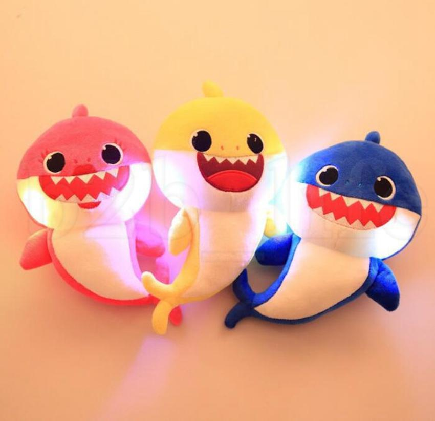 2019 Baby Shark Plush Doll Creative Singing Soft Baby Toys Gift For Kids  Song Music Led Light Cartoon Stuffed Animal Soft Dolls KKA6589 From  Top toy 25680f81af4b7