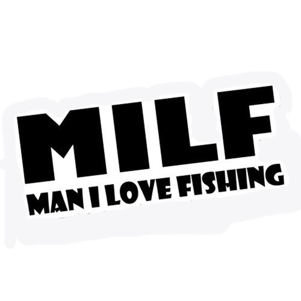 Großhandel milf i love fishing aufkleber decals boat fishing gear vinyl persönlichkeit zubehör muster decals von xymy777 1 41 auf de dhgate com dhgate