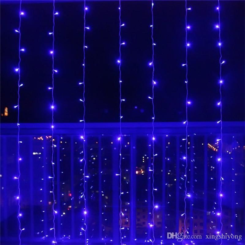 Led Weihnachtsbeleuchtung Für Fenster.3x3 Mt Led Icicle Fenster Vorhang Lichterketten 300 Led Weihnachtsbeleuchtung Für Hochzeit Hausgarten Schlafzimmer Wand Dekorationen Eu Us Uk