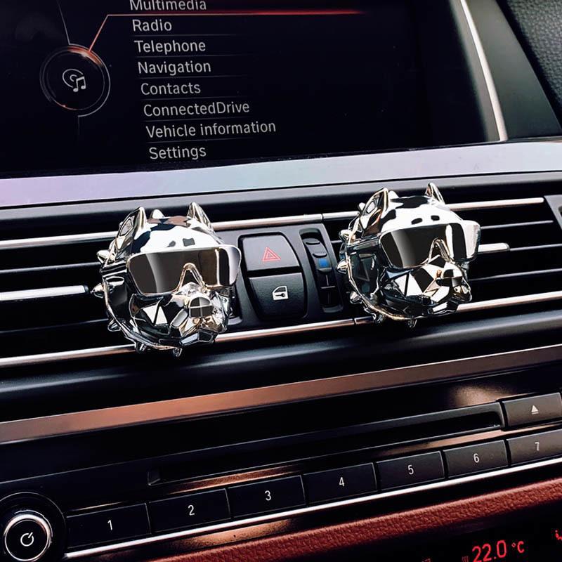 Großhandel Bulldog Auto Lufterfrischer Parfüm Clip Duft Diffusor