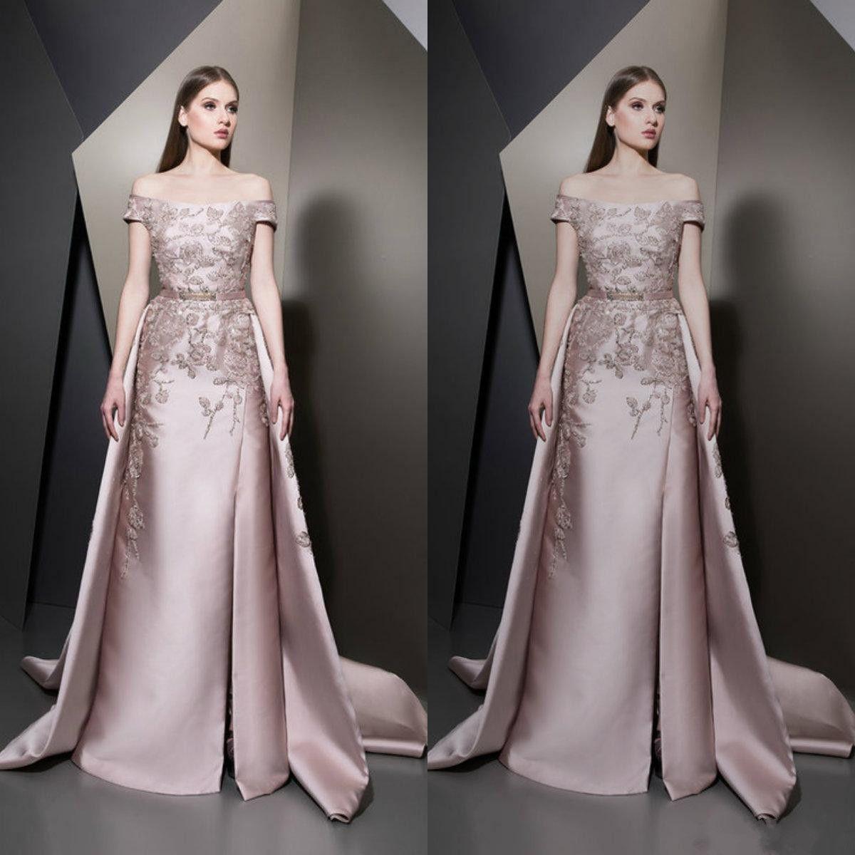 Elie Saab 2019 Split Prom Dresses Sexy Off