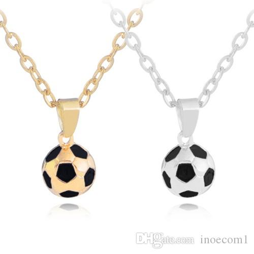 Collier de football individuel des hommes de la coupe du monde de football HOT, collier de pendentif de football de Creative