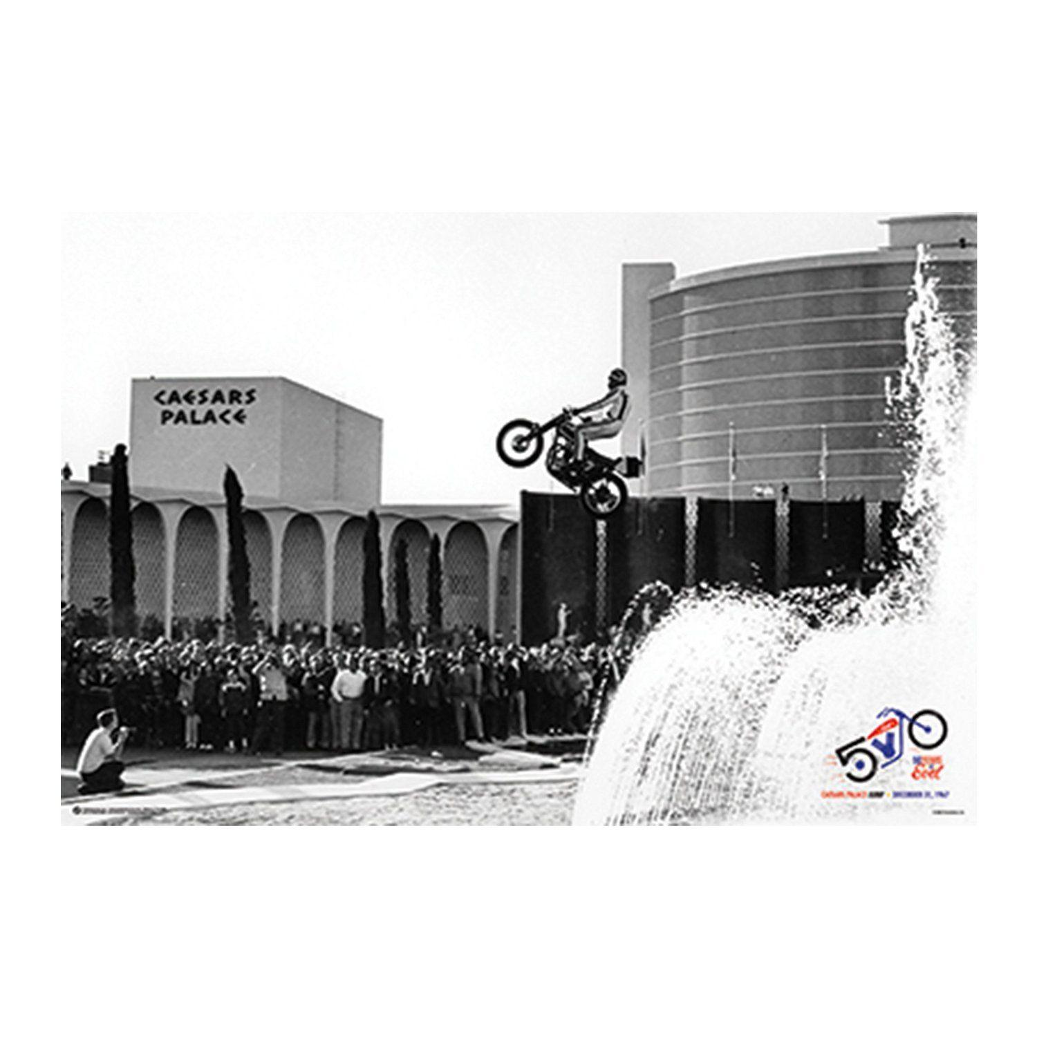 Evel knievel caesars jump art silk poster 24x36inch 24x43inch 058 stickers for bedroom walls removable stickers for decorating walls from wangzhi hao8