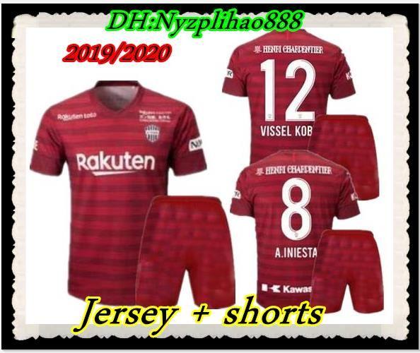 67cc2da3fb97 2019 ADULT KIT 2019 2020 Vissel Kobe Soccer Jersey Home Away Third 19 20  Japan League A.INIESTA PODOLSKI DAVID VILLA MEN S SETS Football Shirts From  ...