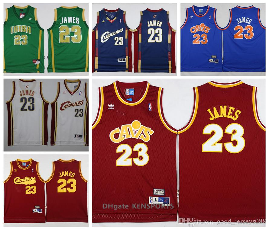 new product 80809 d2cc5 Retro 2019 St. Vincent Mary High School Lakers Irish LeBron James Jerseys  Basketball Shirt Green White LeBron James No.23 Stitched Jerseys
