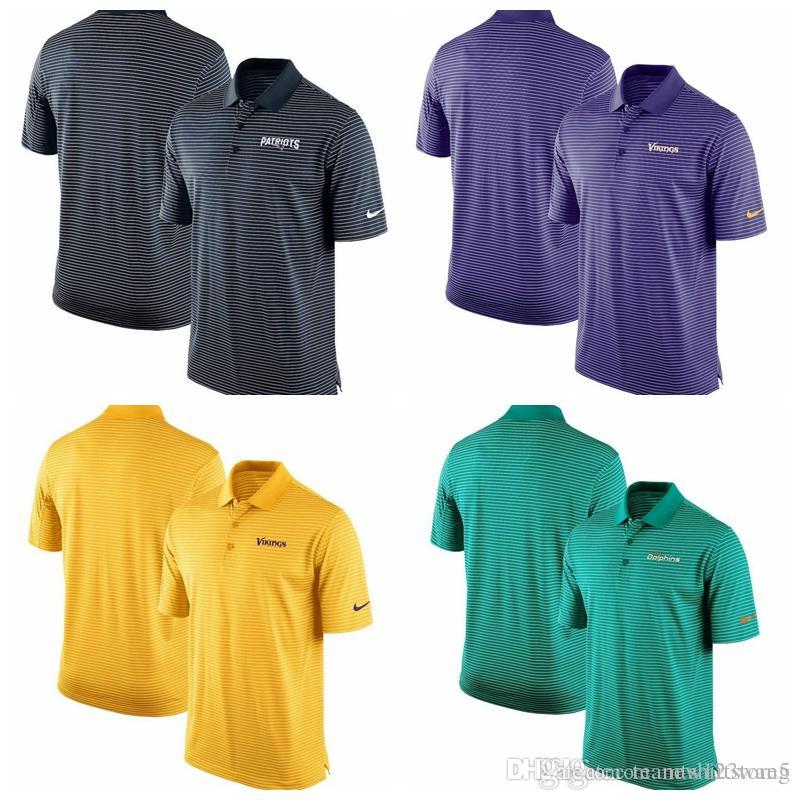 newest collection 2406d 6270b Miami Dolphins Minnesota Vikings Team Stadium Performance Polo Navy Aqua  Purple Gold
