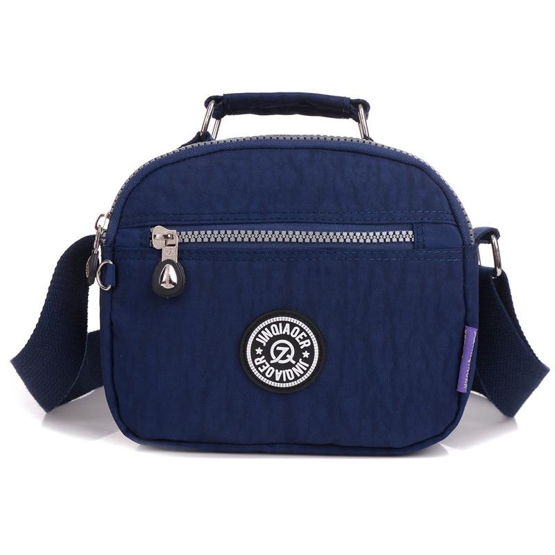 c4494bd8b628 Small Women Messenger Bags Nylon Fashion Handbag Zipper Solid Crossbody Bag  Summer Style Travel Casual Shoulder Bag Tote