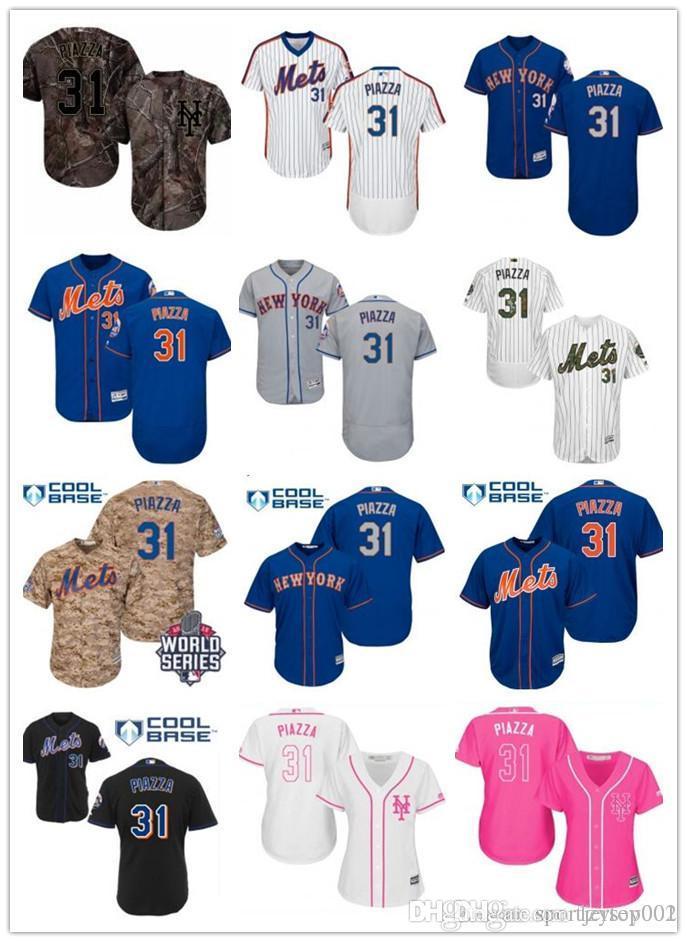 wholesale dealer e81ed 5844f custom New York Men/Women/Youth MetS 31 Mike Piazza El Mago Program Replica  Celtic Flexbase Authentic Baseball Jerseys
