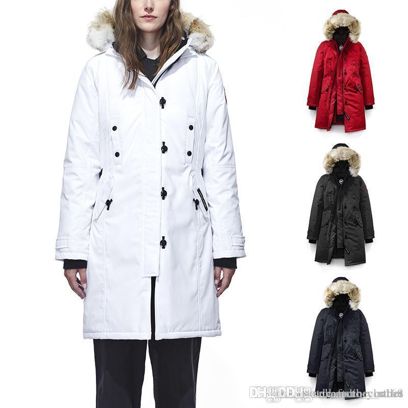8e7aaca20aff DHL 2019 New Canada Women s Goose Down Chilliwack Bomber Hooded Warm Coat  Fur Windbreaker Kensington Parka GOOSE Down Down Jacket Kensington Parka  Online ...