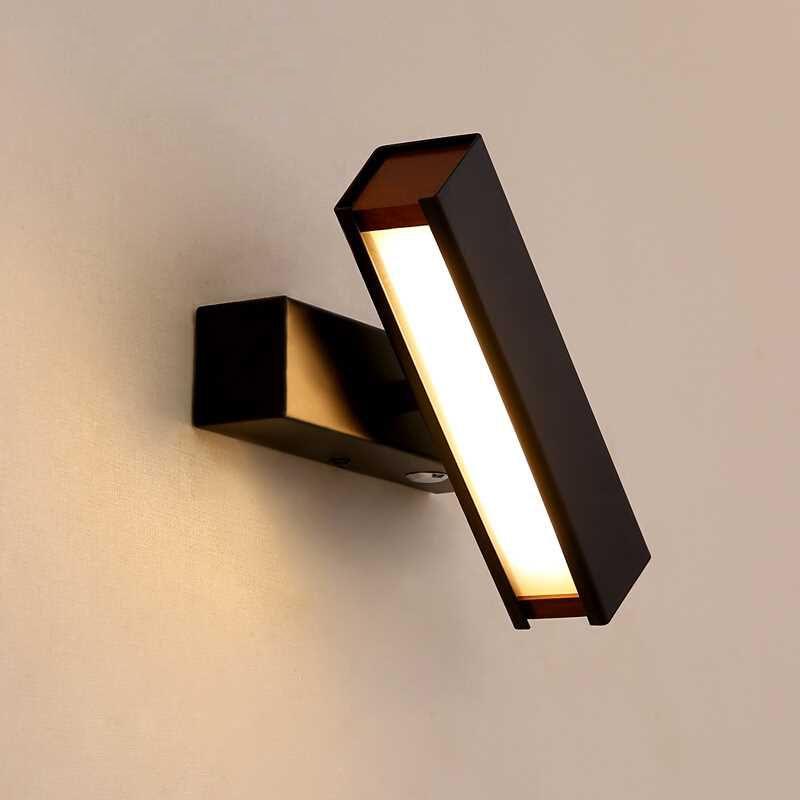 D Chevet Nordique Créative Led Bureau Moderne Chambre De Allée Simple Éclairage Escaliers Étude Rotatif Murale Lampes Applique VGUMSpLzq