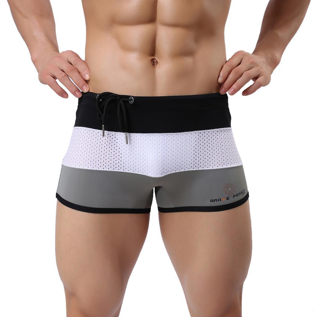 e0c16cdfeef5 Traje de baño sexy Pantalones cortos de natación para hombres Trajes de  baño Tallas grandes a rayas Traje de baño de secado rápido Hombre Ropa de  ...