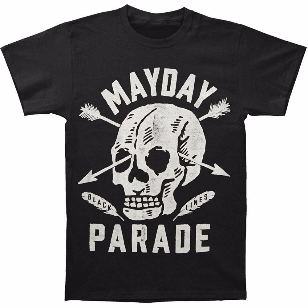 037a4ab75a3e1 Custom Funny Mens T Shirts Mayday Parade Men S Skull T Shirt Black Short  Sleeve Summer Men S T Shirts 7 T Shirt Funny Rude T Shirts From Geshstore