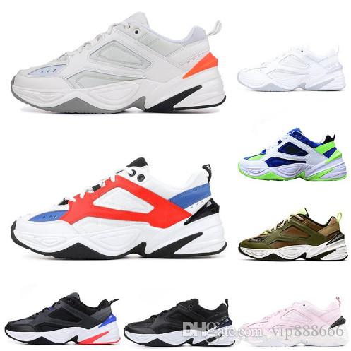 2019 Wholesale M2K Tekno Old men sport Shoes For Men Women Athletic Trainers Professional designer Shoes With box free shipping