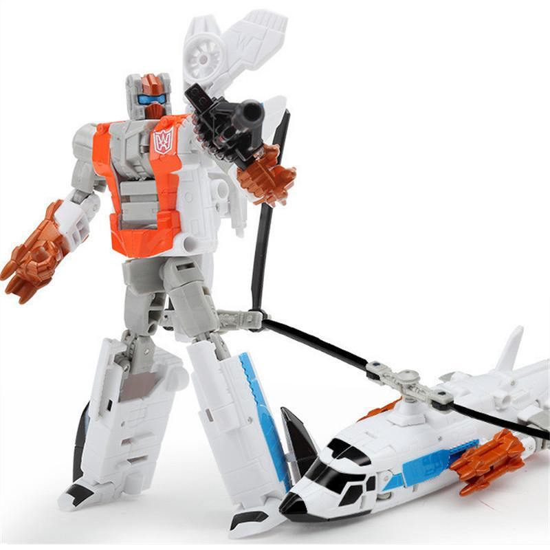 Haizhixing New Movie 5 In 1 Cool Transformation toys boy Anime Devastator  Robot Action Figures Aircraft Model Kids Adult Toys