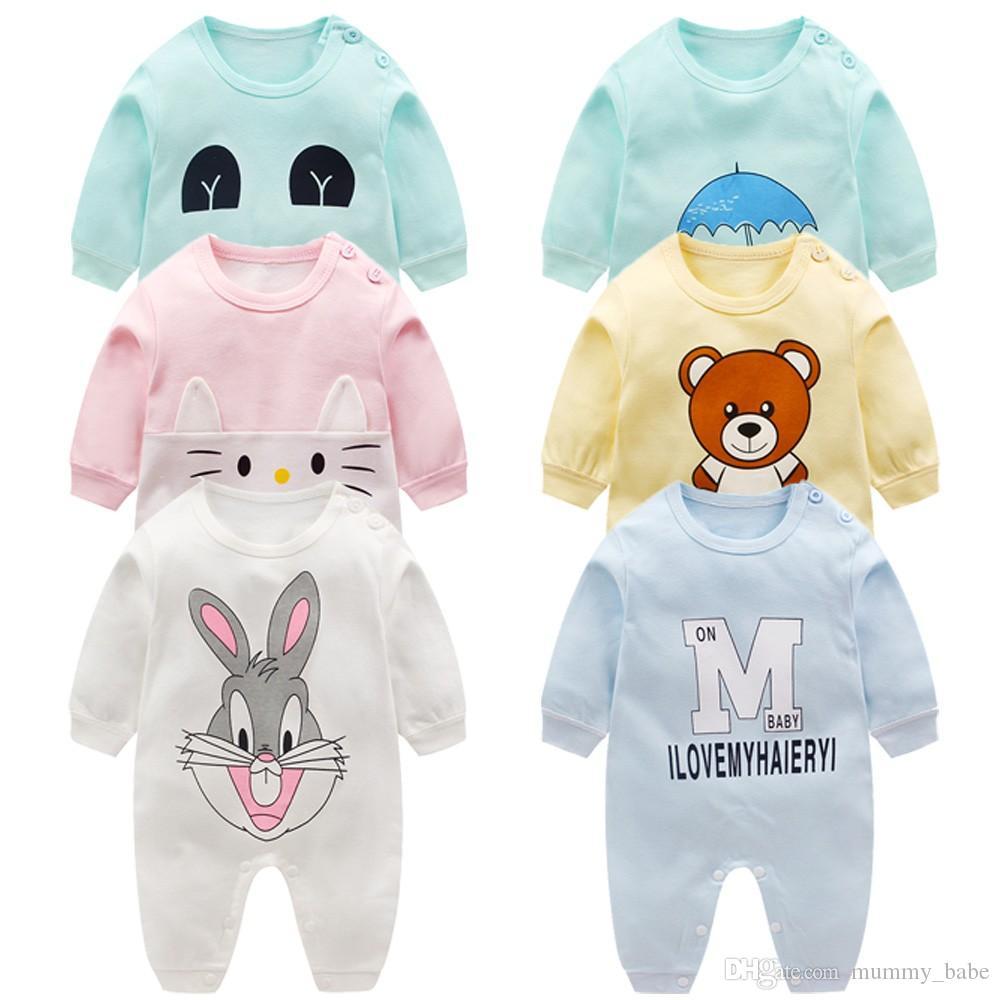 e0efda8ee 2019 Newborn Baby Clothes 100% Cotton Long Sleeve Spring Autumn Baby ...